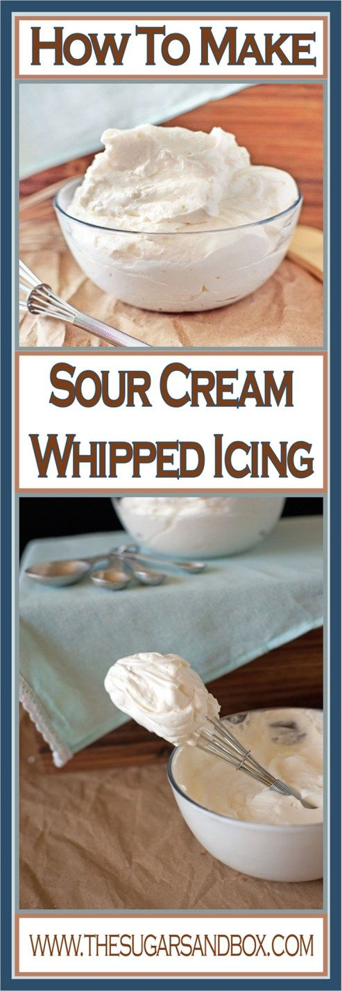 Sour Cream Whipped Icing #creamfrosting