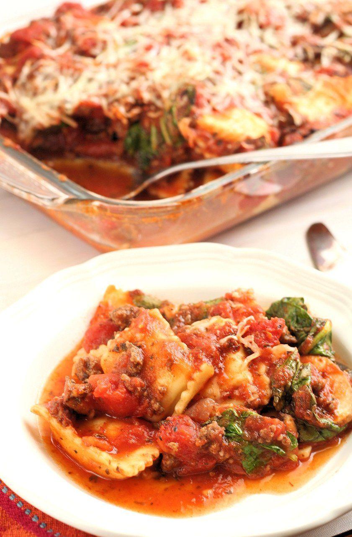 Easy Baked Spinach Ravioli