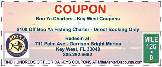 Boo Ya Charters - Key West Coupons $100 Off Boo Ya Fishing
