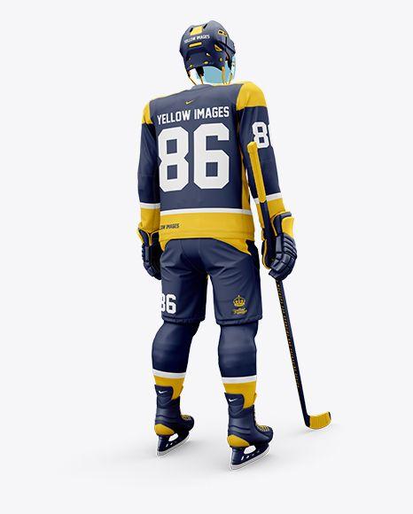 Download Men S Full Ice Hockey Kit With Visor Mockup Hero Back Shot In Apparel Mockups On Yellow Images Object Mockups Design Mockup Free Clothing Mockup Free Psd Design