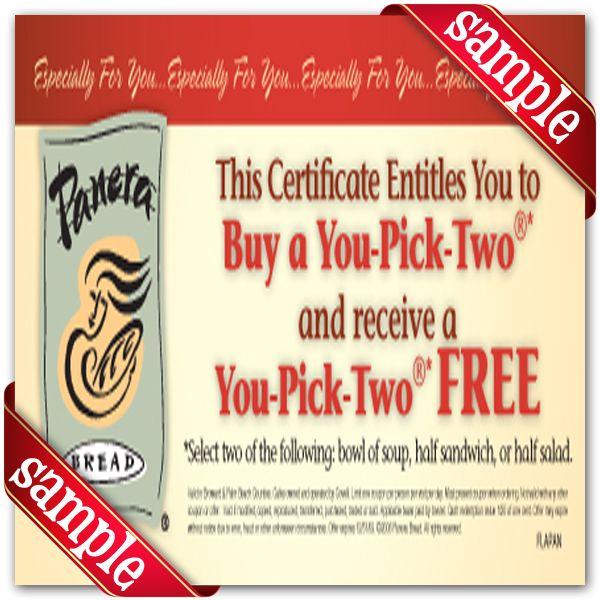 panera bread coupons codes