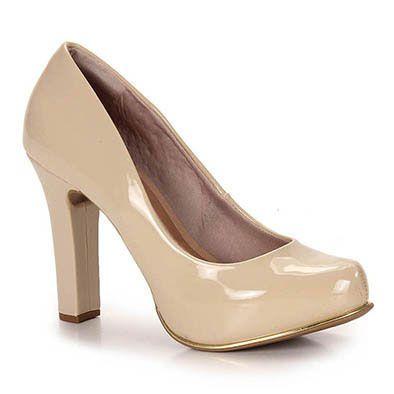 82f896308 Sapato Scarpin Feminino Crysalis - Nude   maria auxiliadora ...