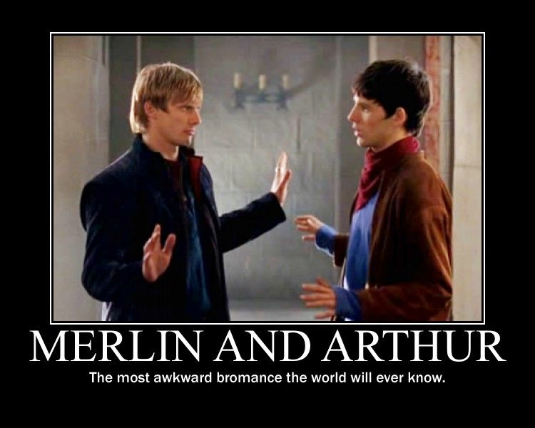 Merlin and Arthur ^AWKWARD?!WHAT!!!!!!? YOU THINK THEY GAVE