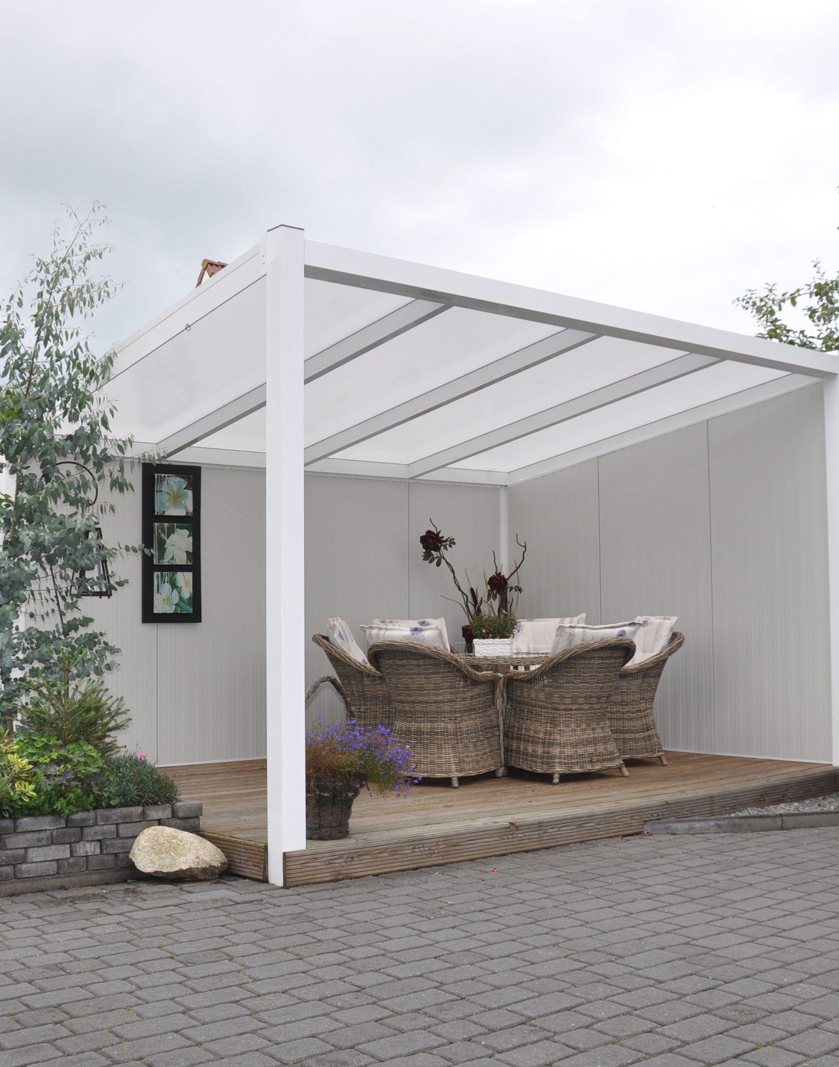 terassenuberdachung aluminium, moderne freistehende terrassenüberdachung aus aluminium in der farbe, Design ideen
