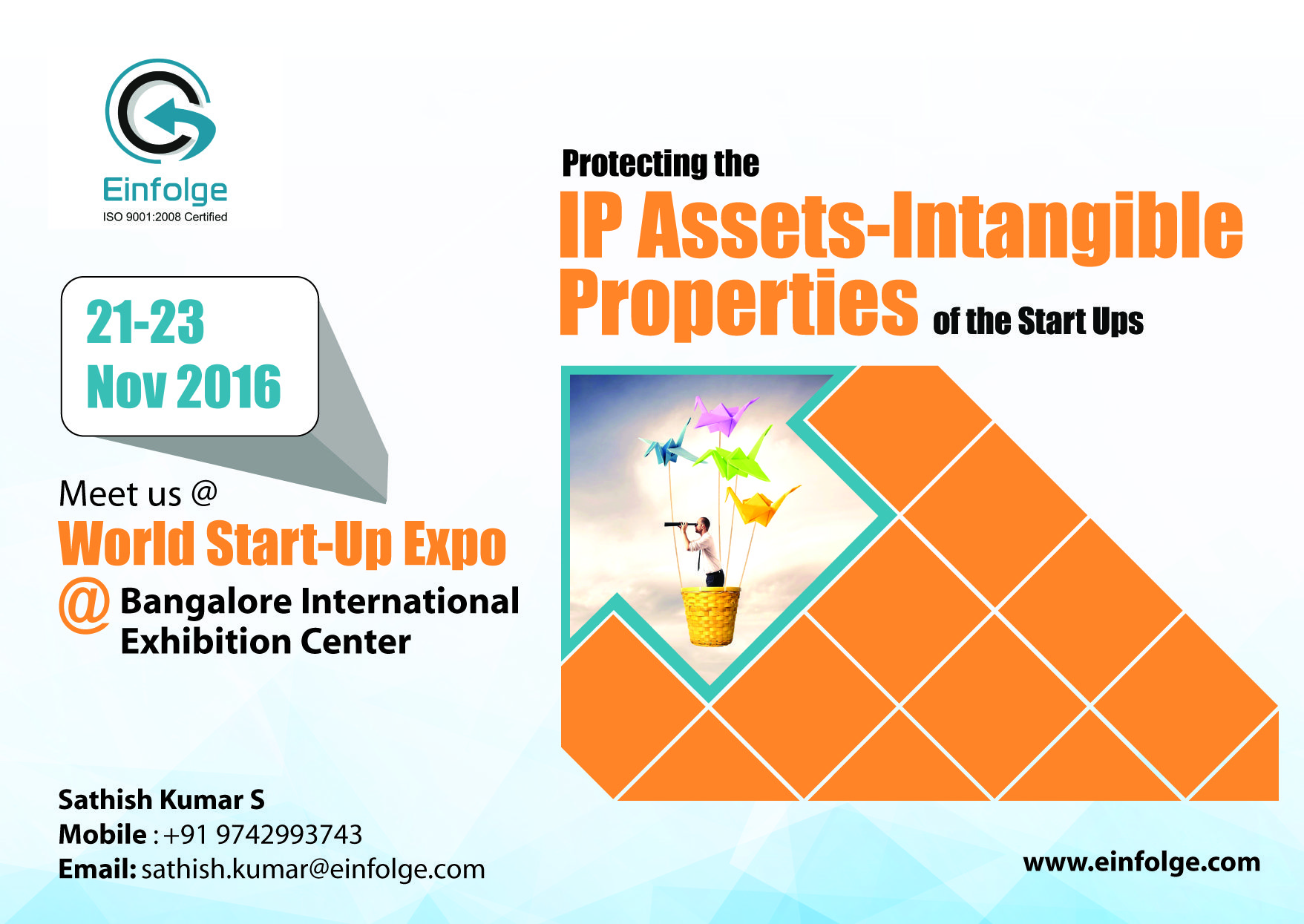 Einfolge Meet us @World Start-Up Expo @Bangalore #InternationalExhibition Center