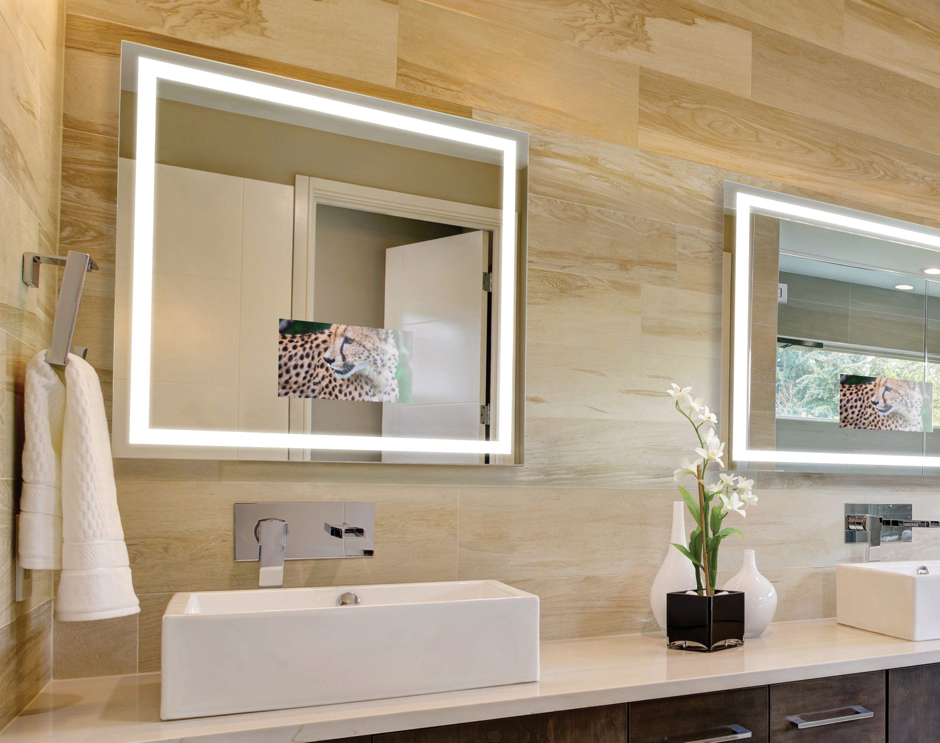 Integrity Lighted Mirror Tv Mirror Tv Electric Mirror Mirror
