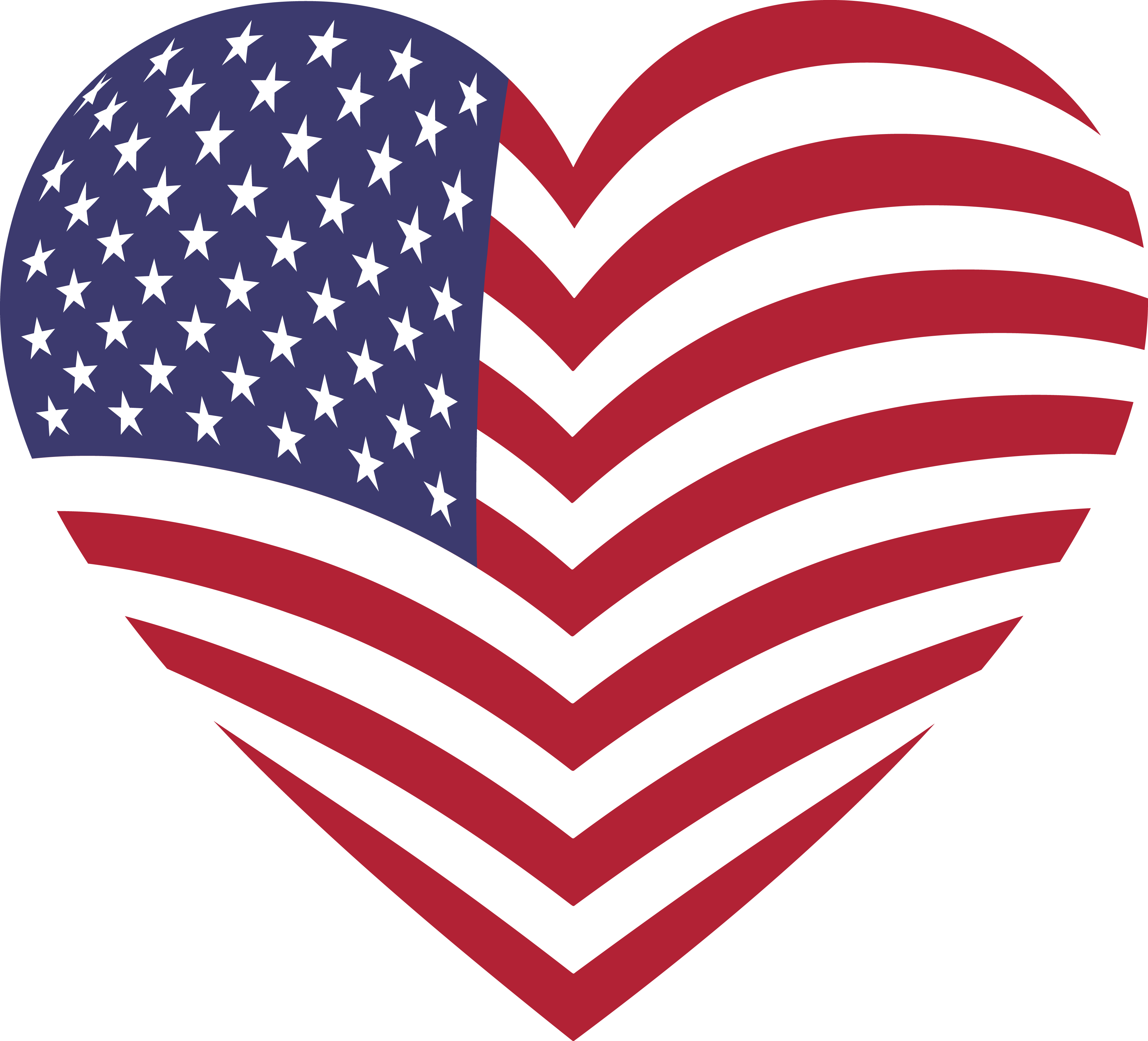 Usa flag heart. Clipart american crafts to