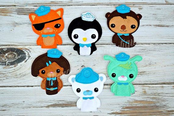Octonauts inspired finger puppets by MyWonderlandBoutique on Etsy