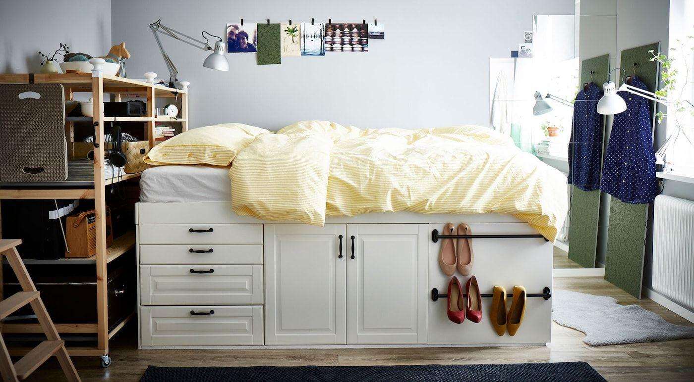 How To Make A Bed From Metod Kitchen Cabinets In 2020 Schrankbett Selber Bauen Stauraum Fur Kleine Schlafzimmer Schlafzimmer Aufbewahrung