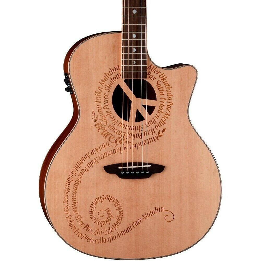 Luna Guitars Oracle Grand Concert Series Peace Acoustic Electric Guitar Acoustic Guitar Ideas Of A Luna Guitars Acoustic Electric Acoustic Electric Guitar