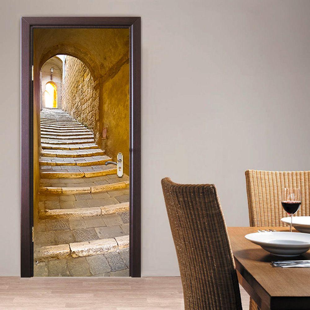 fb40b85d94d44 US  20.08 Escalera De Piedra Europeo 3d Pegatinas Autoadhesivas Decoración  Extraíble Pegatinas Pared del Dormitorio de