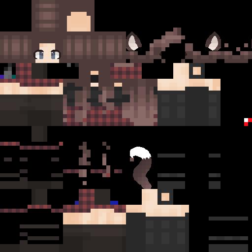 Hd Wolf Girl Nova Skin Minecraft Girl Skins Minecraft Skins Aesthetic Minecraft Skins