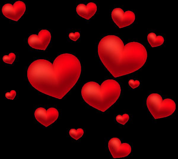 Hearts Decoration Transparent PNG Clip Art Image