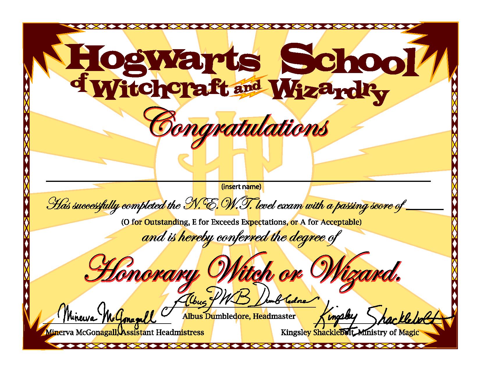 hogwarts graduation certificate captainjackharkness deviantart com on deviantart