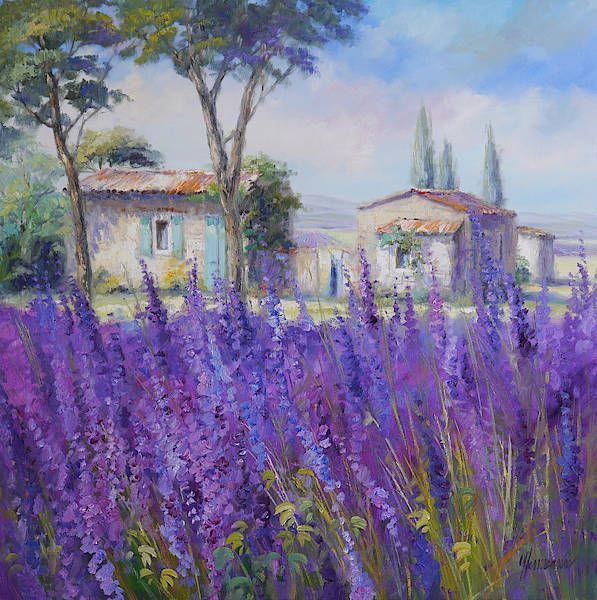Wundervolle Gemalde Der Provence Von Ute Herrmann Risunki