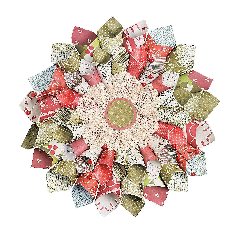 DIY Christmas Paper Cone Wreath Christmas Ideas