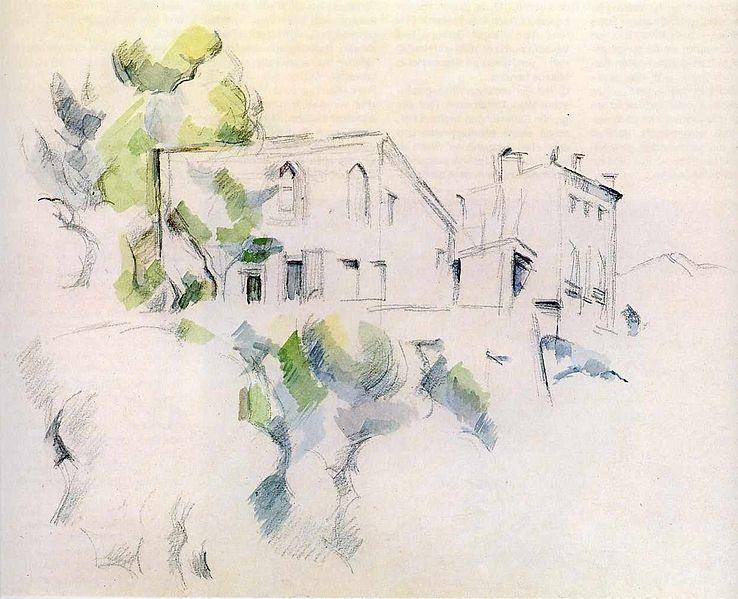 File:Cezanne - Skizze eines Hauses.jpg