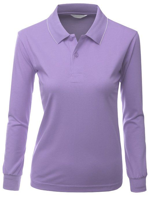 b71b2d8e This clean cut and casual womens sporty PK long sleeve golf polo shirt by  Xpril is made from 60% polyester and 40% cotton