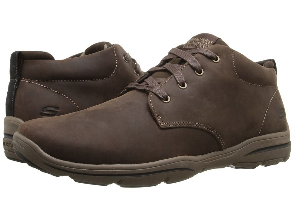 Fit Boots Chocolate Skechers Harper Relaxed Lace Up Melden Men's fxSqP5x
