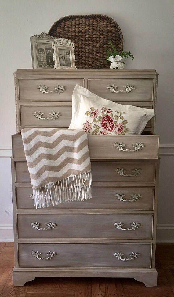 SOLD Vintage Dresser, Hand Painted Dresser, Farmhouse Dresser ...