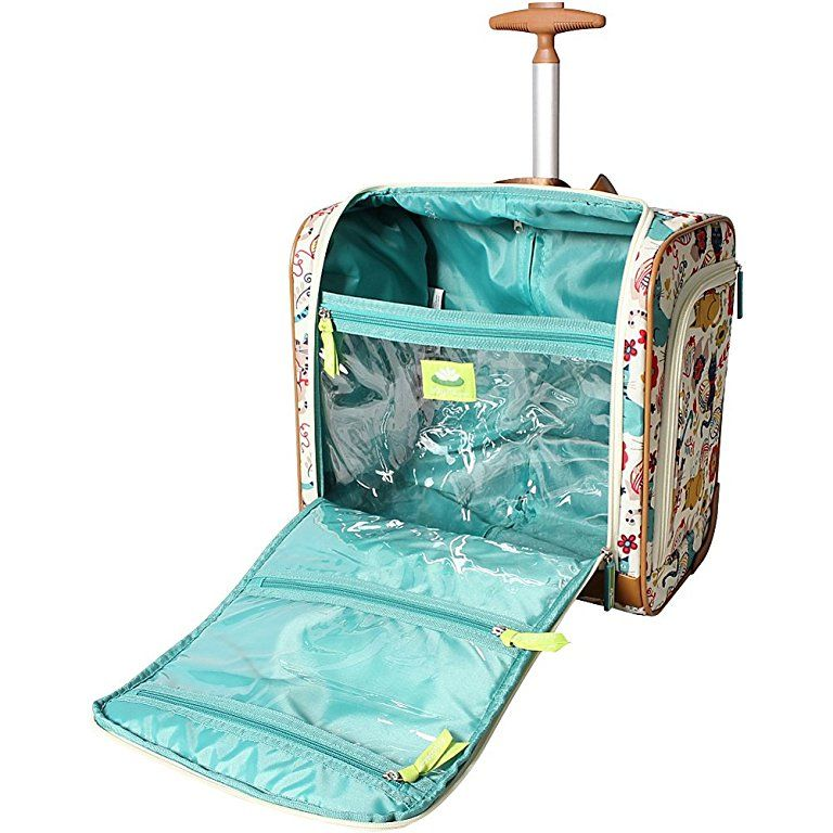 Amazon Com Lily Bloom Under The Seat Bag Forest Owl Carry Ons Bags Underseat Carry On Lily Bloom