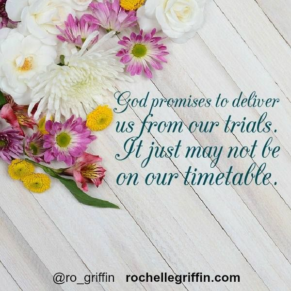 He WILL deliver us. Trust that He's working for our good...even when we don't understand.