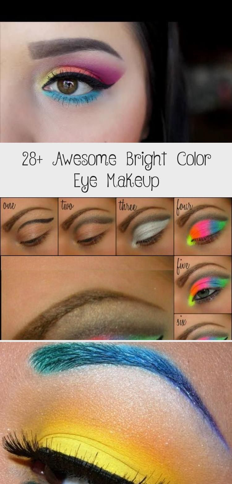 28 Awesome Bright Color Eye Makeup Pinokyo Bright Color Eye