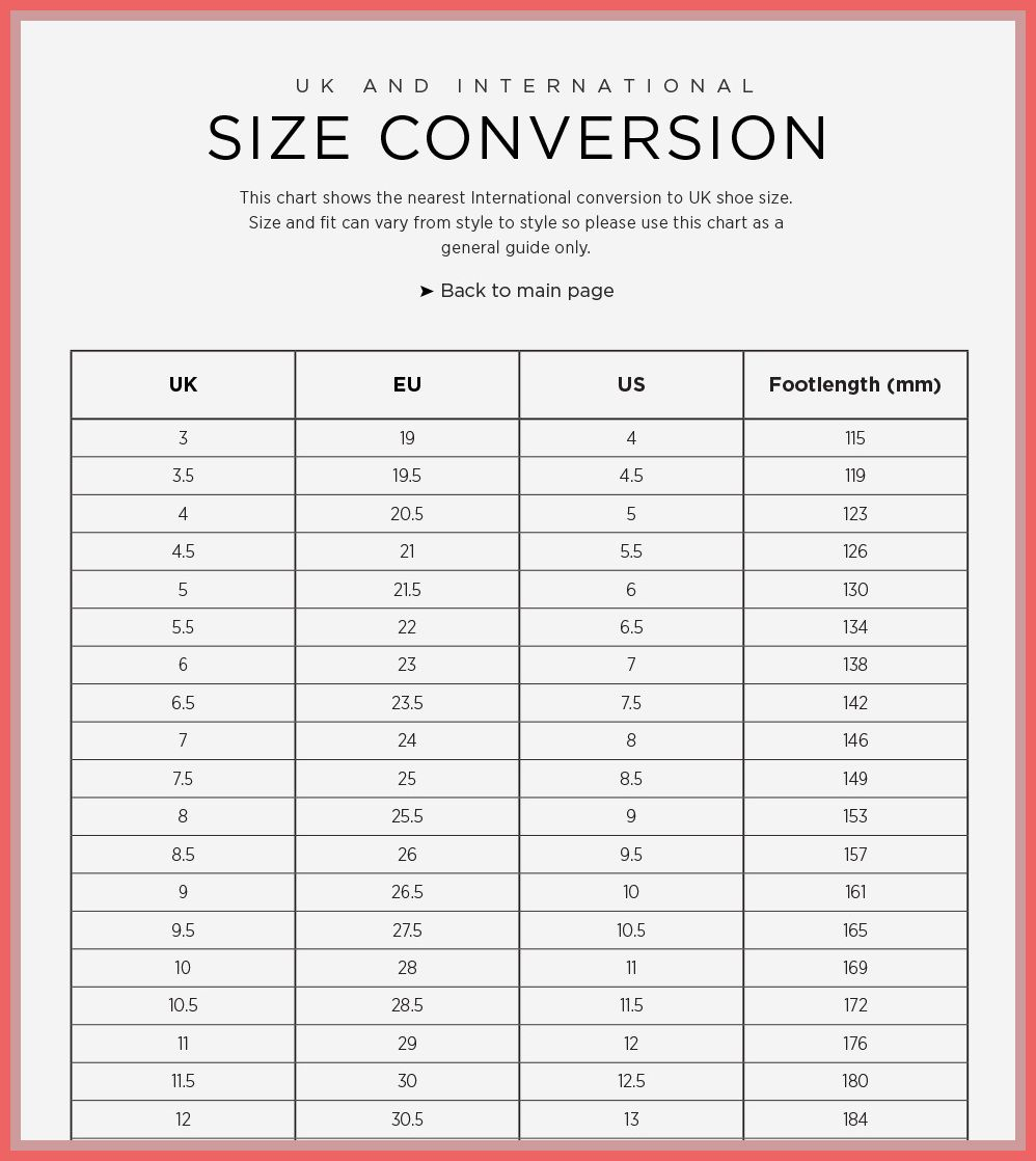 american kids sizes