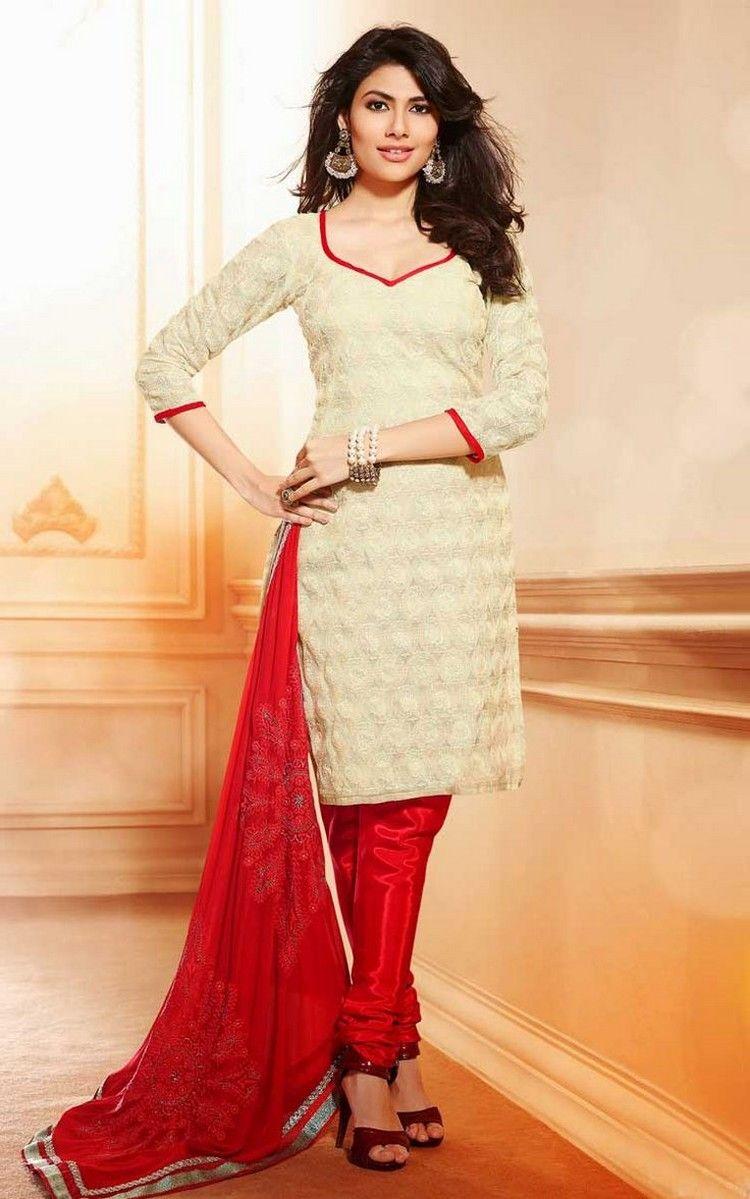 Cotton Churidar Suits Neck Gala Designs for Girls | Dress ...