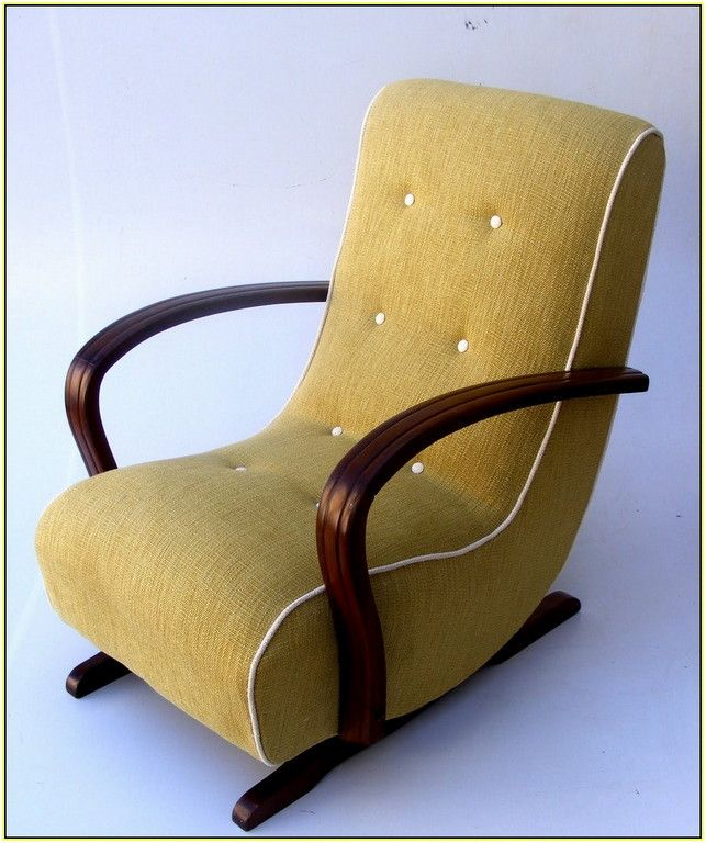 Delicieux Coffee Cream Polyester Banana Rocker Chair With White