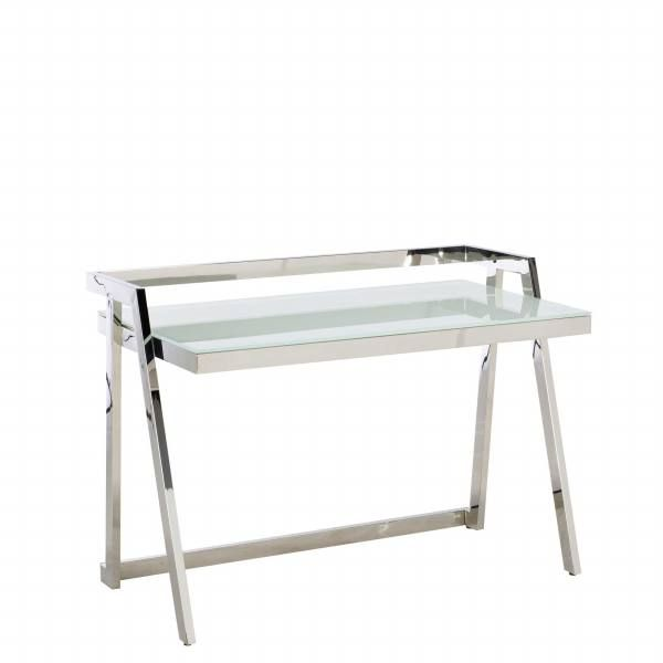 The Luka Glass And Metal Desk Will Look Perfect In Any Stylish Home Office.