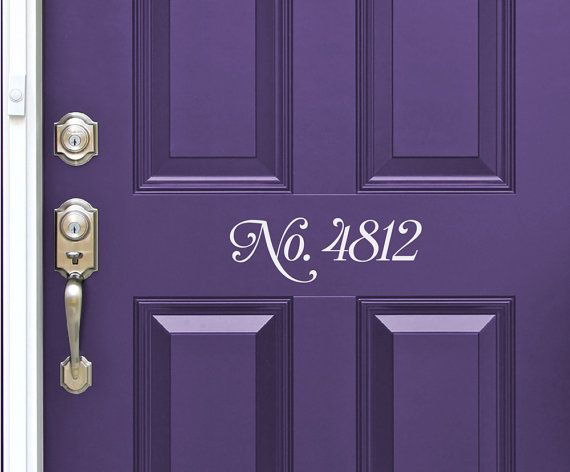 Custom house numbers vinyl front door decal sticker sign home entry decor address numbers