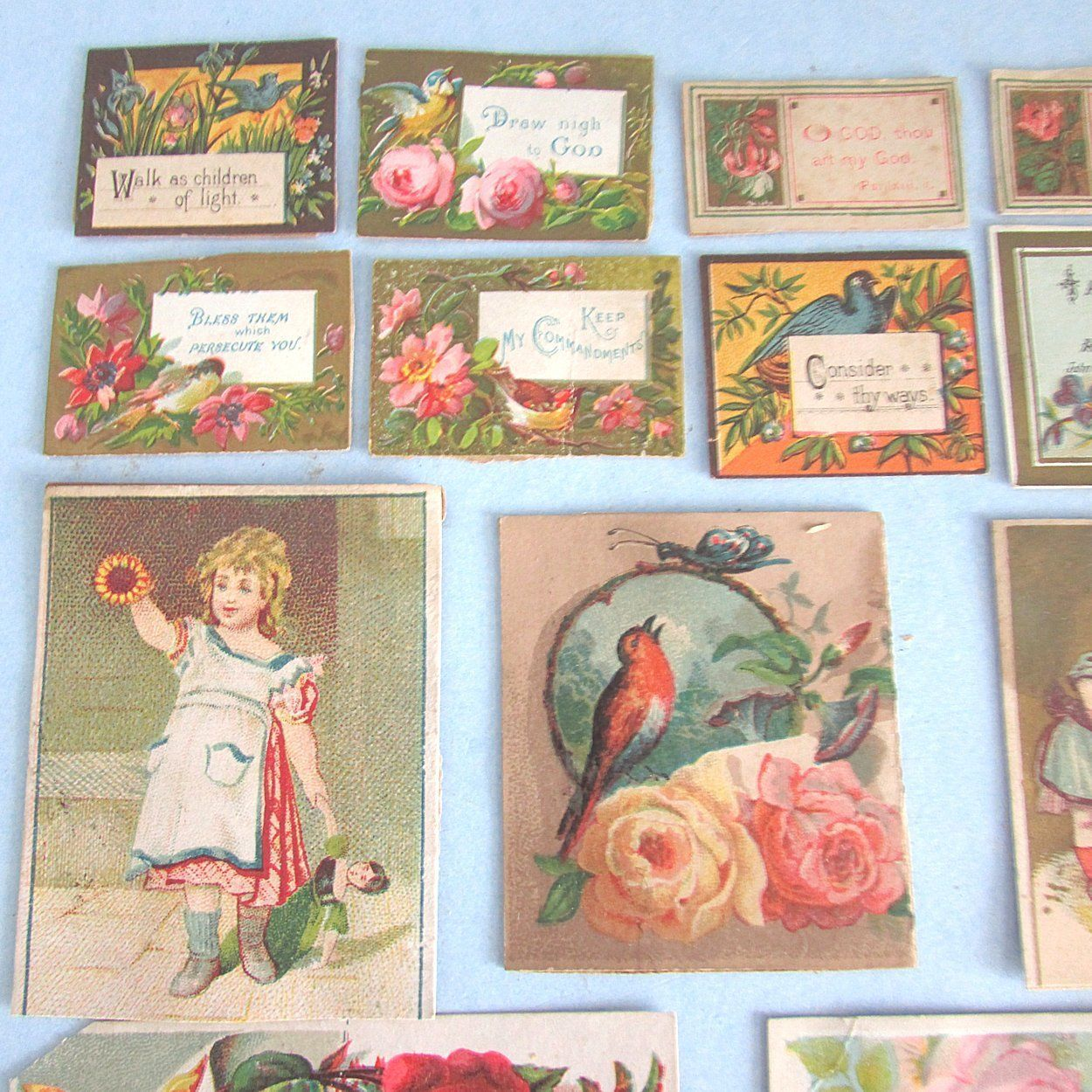 16 victorian scrap card bible religious saying quote children collectible victorian greeting cards ebay m4hsunfo