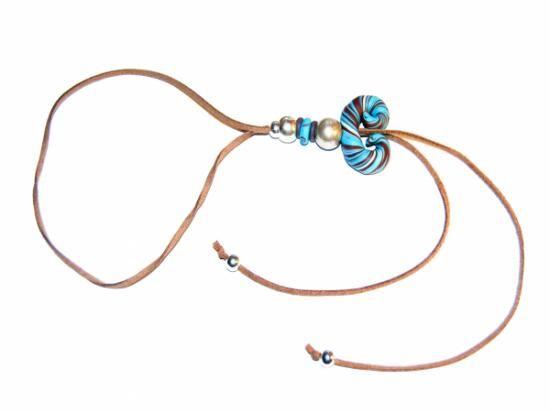 Adjustable polyclay necklace