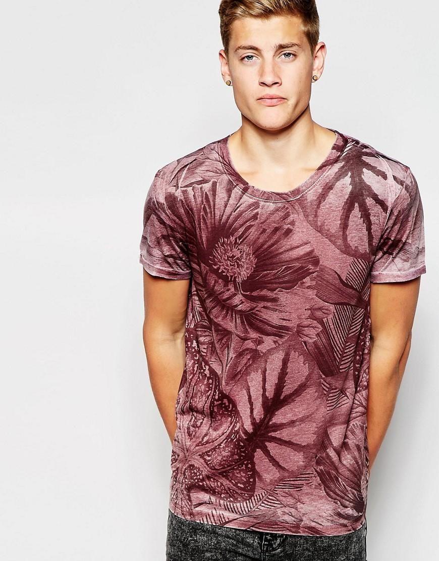 New Look Floral Camiseta para Hombre
