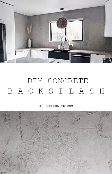DIY Concrete Backsplash #minimalistkitchen