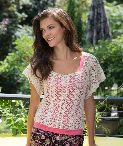 Free Crochet Pattern Lace Essence Top Make It Crochet Pinterest