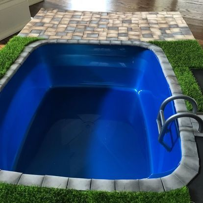 Diy Miniature Doll Swimming Pool And Patio Pool Patio Miniature Dolls Swimming Pools