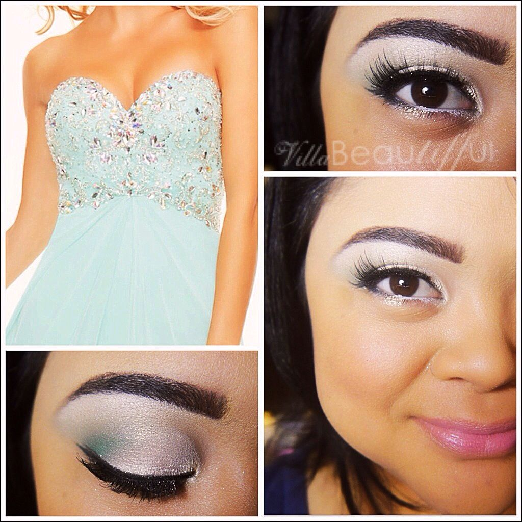 formal eye makeup for blue eyes | motd: prom makeup mint