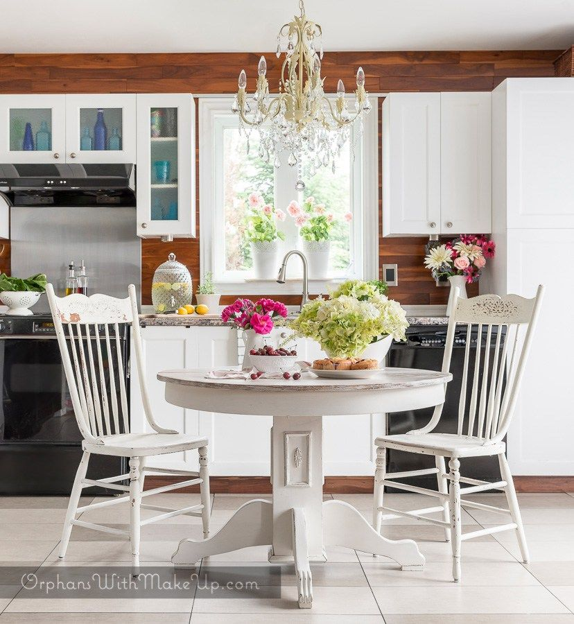 Cottage Style Kitchen Table Makeover Kitchen Table Makeover