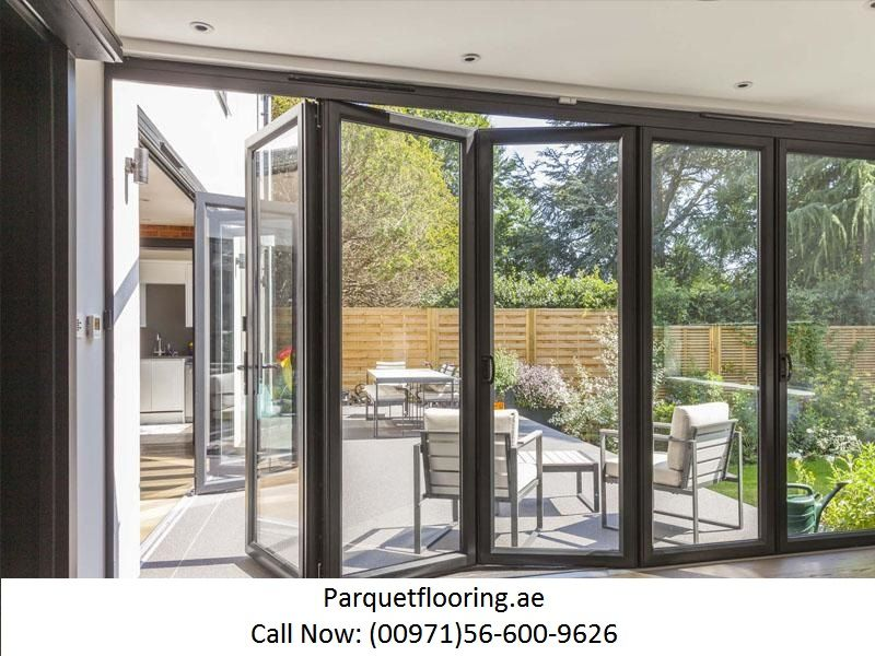 At Parquetflooring Pvc Folding Doors Are Available In Many Colours And Designs To Complete The Theme Of Your In 2020 Folding Doors Sliding Door Design Door Design