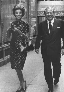 Babe Paley with her husband, Bill, walking along Fifth Avenue. (Back then,  she was the queen of chic......when quiet