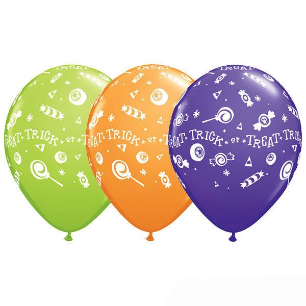 Trick or Treat Candy Latex Balloons, Halloween Classroom Decor, Fall Festival 10 #Qualatex #Halloween
