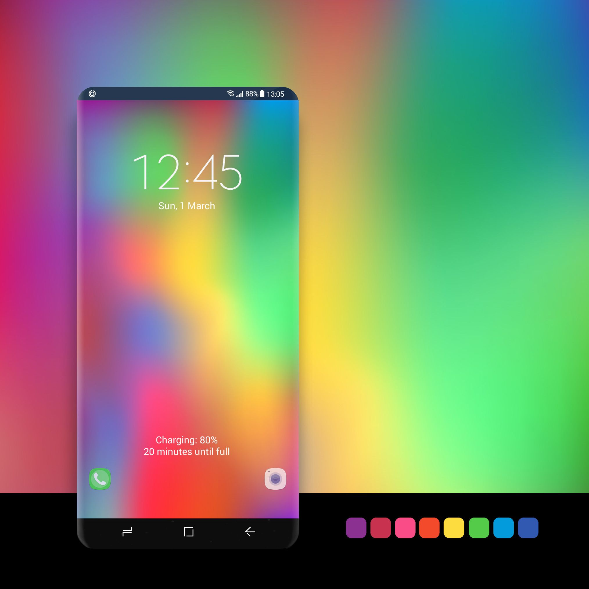 Blurred rainbow abstract wallpaper * - Available for Global