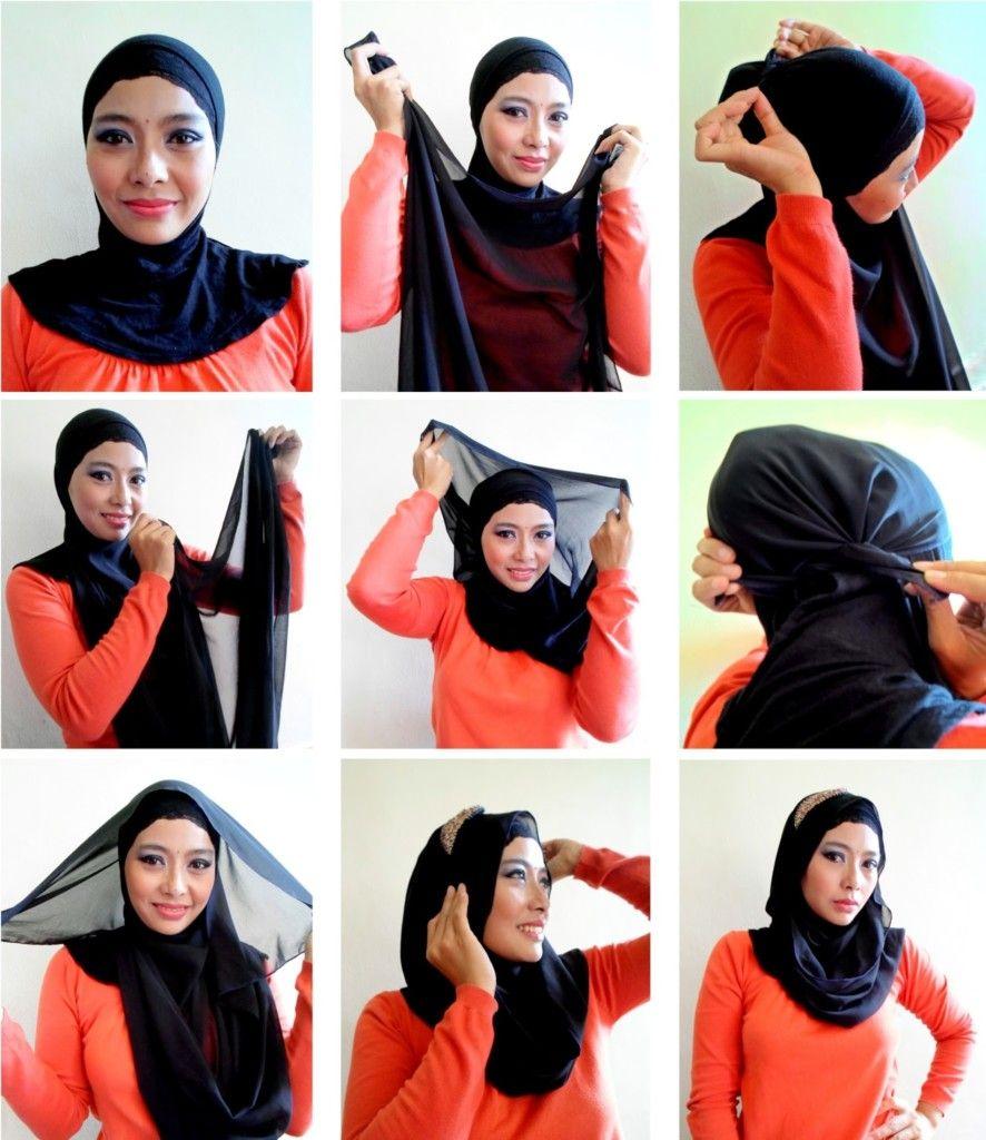 simple black hijab tutorial | hijab | pinterest | hijab tutorial