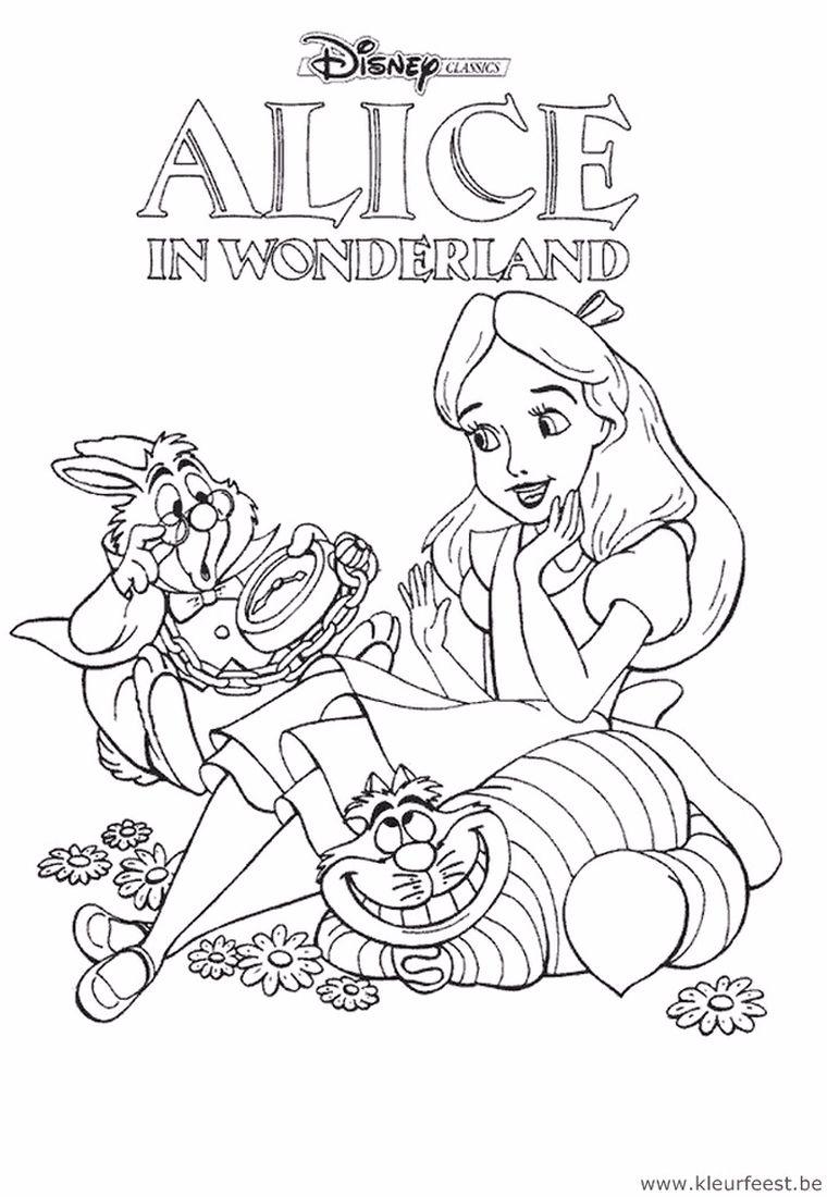Pin Van Peggy Proost Op Alice In Wonderland Wonderland Kleurplaten Alice In Wonderland