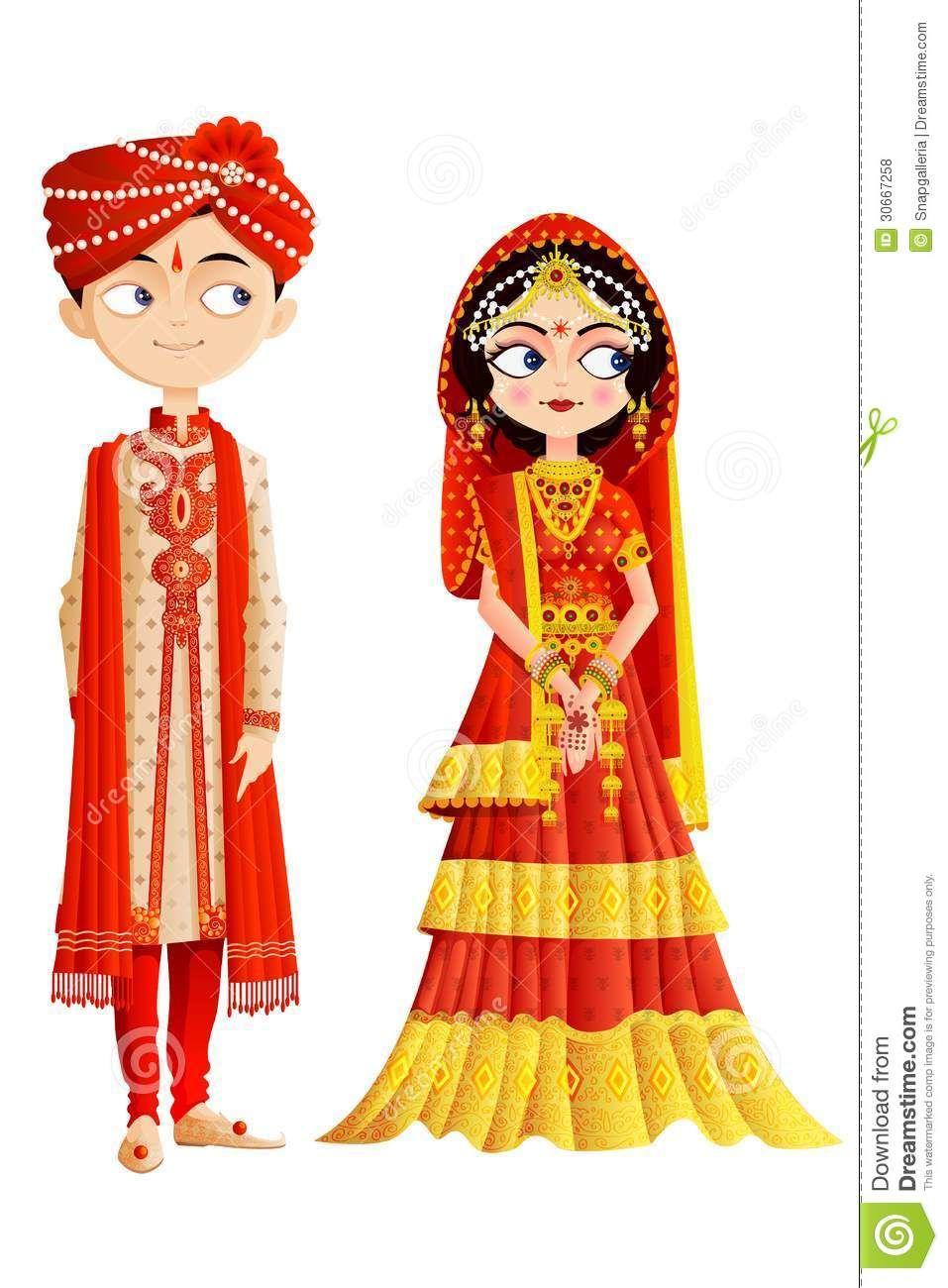 Indian Wedding Couple - | drawing | Pinterest | Wedding couples ...