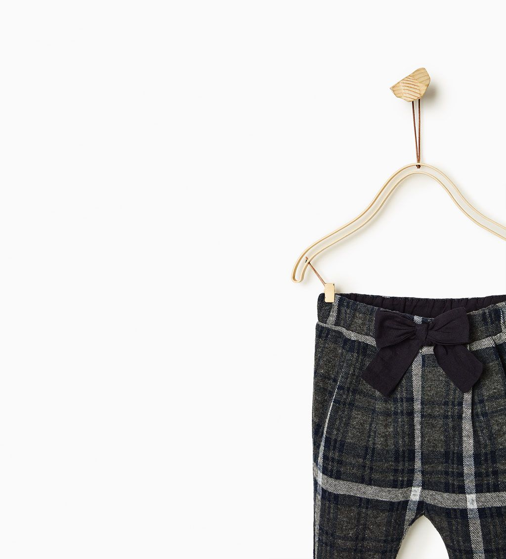 a631a3aa94 CHECK TROUSERS WITH BOW-SKIRTS AND TROUSERS-Baby girl-Baby | 3 months - 3  years-KIDS | ZARA United States