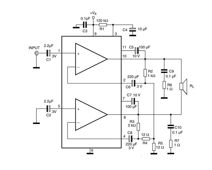 Tda2005 Bridge Amplifier Circuit Diagram