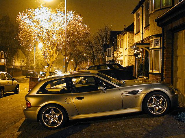 Arctic Silver M Coupe At Night Bmw Bmw Z3 And Cars